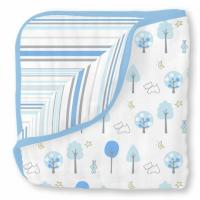 Одеяло муслиновое SwaddleDesigns Luxe Muslin Blue Forest