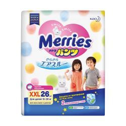 Подгузники-трусики Merries XXL 15-28кг 26шт