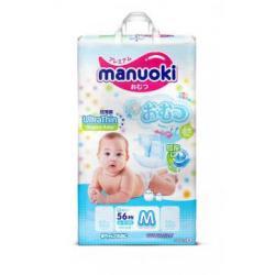 Подгузники Manuoki М (6-11кг) 56 шт