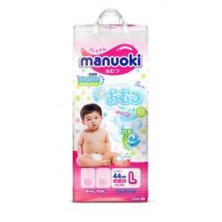 Подгузники Manuoki L (12+ кг) 44 шт