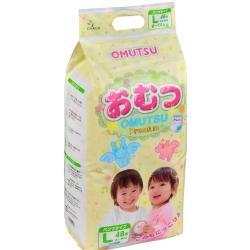 Подгузники-трусики Omutsu L (9-14 кг) 48  шт