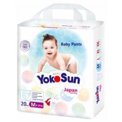 Трусики-подгузники Мини упаковка YokoSun M (6-10 кг) 20 шт.