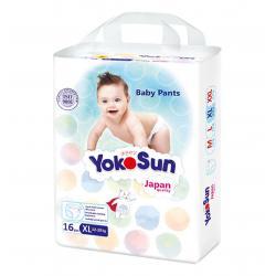 YokoSun Подгузники-трусики Мини упаковка XL (12-20 кг) 16 шт
