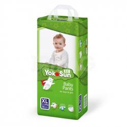 Детские подгузники-трусики YokoSun Eco размер XL (12-20 кг) 38 шт.