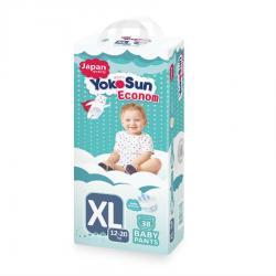 Детские подгузники-трусики YokoSun Econom размер XL (12-20 кг) 38 шт.