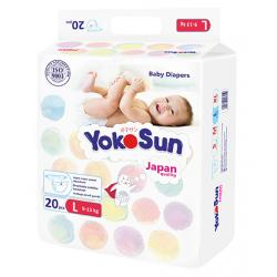 Подгузники YokoSun Мини упаковка L (9-13 кг) 20 шт.