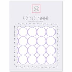 Простынь детская SwaddleDesigns Fitted Crib Sheet Lavender Mod