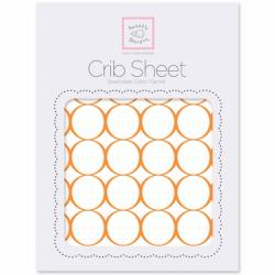 Простынь детская SwaddleDesigns Fitted Crib Sheet Orange Mod