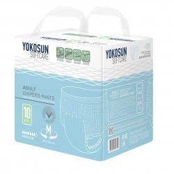 YokoSun Подгузники-трусики для взрослых M, 10 шт